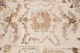 distressed black and white vintage turkish rug