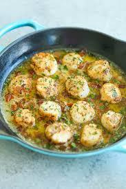 bacon scallops with garlic er sauce