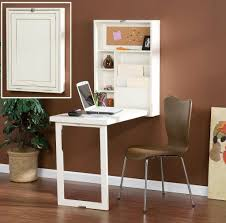 Furniture: Uniqure Folding Floating Desk Design With Armless Brown Chair - Floating  Desk Ikea