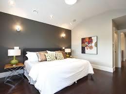bedroom wall paint designs. Elegant Gray Accent Wall Paint Design In Bedroom Designs N