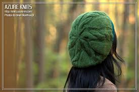 Free Slouch Hat Knitting Patterns Impressive AZURE KNITS BLOG Free Pattern Quick Cable Slouch HatHat