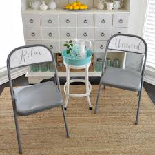 makeover furniture. Spray And Chalk Paint Folding Chair Makeover Furniture