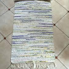 lovely rag rug runner and 1 of pair vintage rag rug yellow off white purple pastel idea rag rug runner