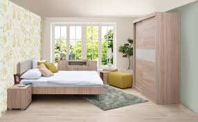 Schlafzimmer Komplett Set R Lepe 7 Teilig Farbe Eiche Braun Creme