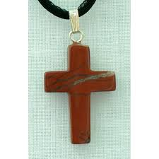 red jasper natural stone cross necklace 26 inch nsc 6