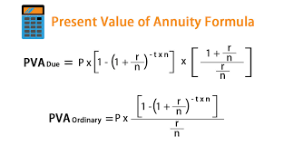 Present Value Of Annuity Formula Calculator With Excel