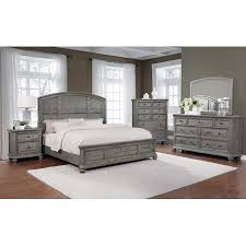 Best Master Furniture 5 Pcs Cal. King Bedroom Set in Grey Rustic Wood