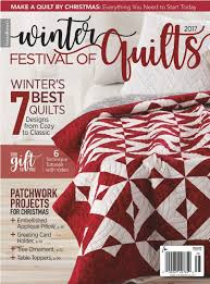 Sew in Love {with Fabric}: Holiday Magic: More Quilt Inspiration & Click here to find the Winter Festival of Quilts 2017 magazine or look for  it at your local quilt shop. Adamdwight.com