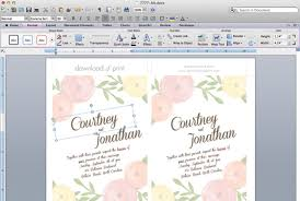 wedding invite template download diy wedding invitation template with watercolor flowers