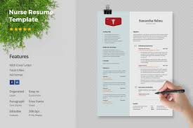 Nurse Resume Template Resume Templates Creative Market
