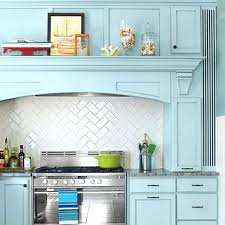 kitchen backsplash blue subway tile. Herringbone Pattern Backsplash Subway Tiles In A With Blue Cabinets How To Lay Kitchen Tile P