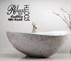 relax soak spa bathroom rules lettering bath words vinyl decor decal wall art