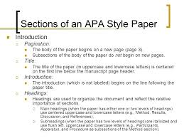 writing an apa style research paper ppt video online  sections of an apa style paper
