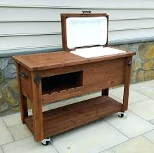 best grill tables rustic cooler bars outdoor plans wooden patio wood stand pallet design