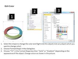 Segments Of Round Chart In Ring Shape 3 Stages Powerpoint