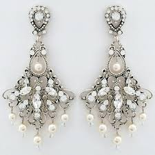 vintage wedding earrings antique chandelier uk