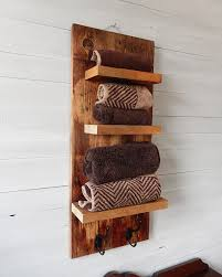 rustic bathroom shelves with hooks natural designs by rio in wooden towel shelf design 0