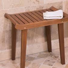 premium solid teak wood slatted shower bench bathroom seat mildew resistant new