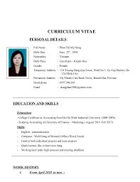Curriculum Vitae Dung
