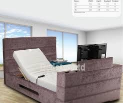 king size tv bed. Wonderful Bed Sweet Dreams Mazarine 5FT Kingsize Adjustable TV Bed Intended King Size Tv