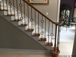 After the iron baluster upgrade from M.C.Staircase & Trim. Removal of  wooden balusters and