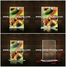 Restaurant Table Top Display Stands Table top display rack restaurant menu card acrylic sign holders 73