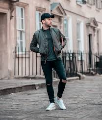 alpha industries replica grey er jacket outfit