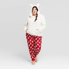 <b>Women's Plus Size Holiday</b> Llama Pajama Set - Wondershop™ White