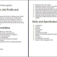 Pe Teacher Job Description For Resume Substitute Preschool Teacher Job Description Job Description with 2