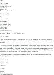 Video Production Specialist Cover Letter Sarahepps Com