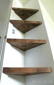 Dark Wood Corner Shelves Custom Corner Wood Shelf Corner Wood Shelf Home Wood Corner Shelves Plans