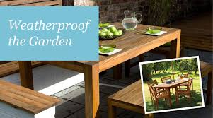 Weatherproof the garden Sadolin