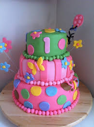 Baby 1st Happy Party Cake Girl Baby Birtday Cake Birthday Cakes