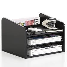 desk drawer paper organizer. Unique Organizer FITUEYES Wood Office Desk Organizer With Drawers Paper Storage And Desk  Accessories Black DO303501WB With Drawer Paper