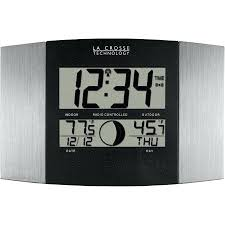 it wall clock with temperature and humidity uk atomic wl