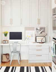 office in kitchen. house tour modern eclectic family home office in kitchen