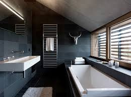 black bathroom. View In Gallery Ample Natural Light Gives The Dark Bathroom A More Airy Vibe [Design: Leicht USA Black