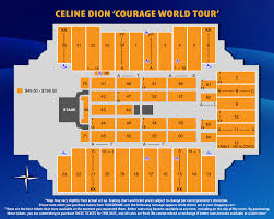 Park Theatre Las Vegas Seating Chart 31 True To Life Celine Dion Las Vegas Seating Chart