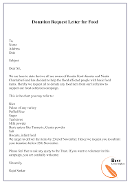 Donation Request Letter For Food 01 Best Letter Template