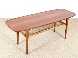 danish teak coffee table toronto oak and cane oval top with raised edges design round