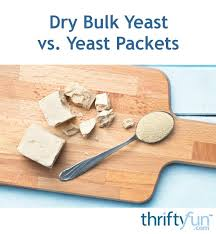 how much yeast is in a packet thriftyfun
