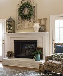 marvellous design brick fireplace mantel ideas 10 fireplace after red with brown trim painted white
