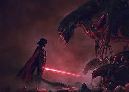 darth vader vs xenomorph in gloriously
