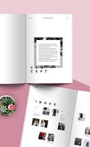 Magazine Layout Design Pinterest Fashion Lookbook Template Minimal Style Lookbook Layout