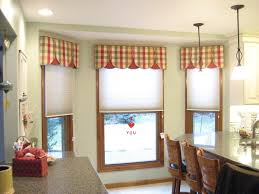 Kitchen Window Covering Stunning Kitchen Window Treatments Valances With Double Curtain