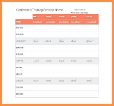 One Day Schedule Template Event – Onbo Tenan