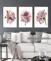 printable wall art set of 3 flower print set large wall art prints wall art bedroom
