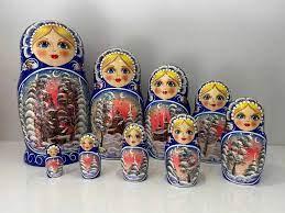 Búp Bê Nga Tên Gì - Bô búp bê gỗ 10 con Mang Tên của