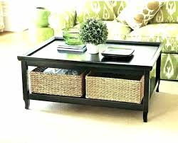 sofa table with storage baskets. Console Table With Storage Baskets Black Coffee Oak Tables Sofa E