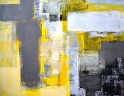 yellow and gray abstract art lynn tice artwork for sacramento ca united states